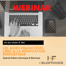 Webinar Subventions solaire thermique Heliofrance