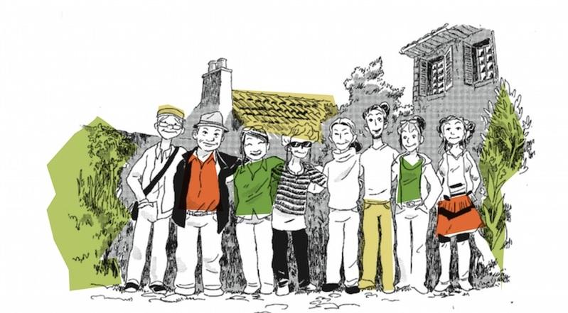 Chantier participatif encadré par Monique CERRO - Enduit de réparation façade en pisé
